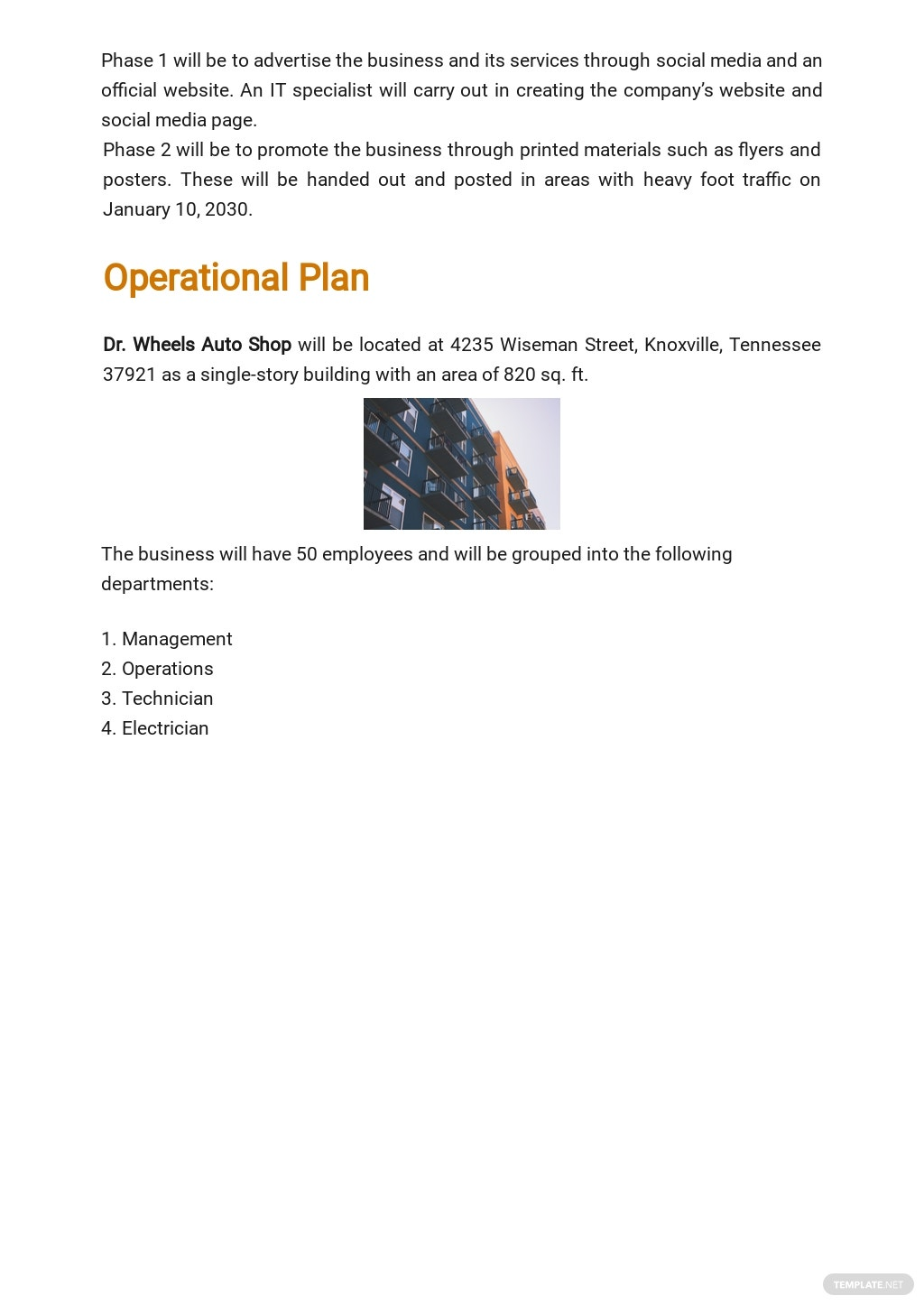 Auto Repair Service Business Plan Template 4.jpe