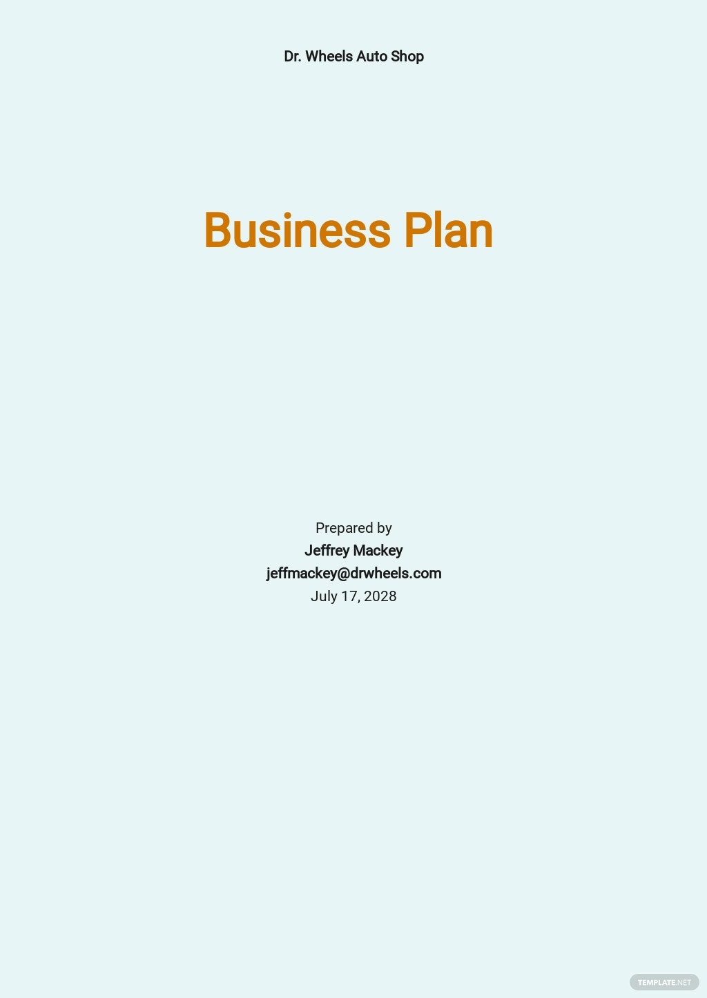 Auto Repair Service Business Plan Template.jpe