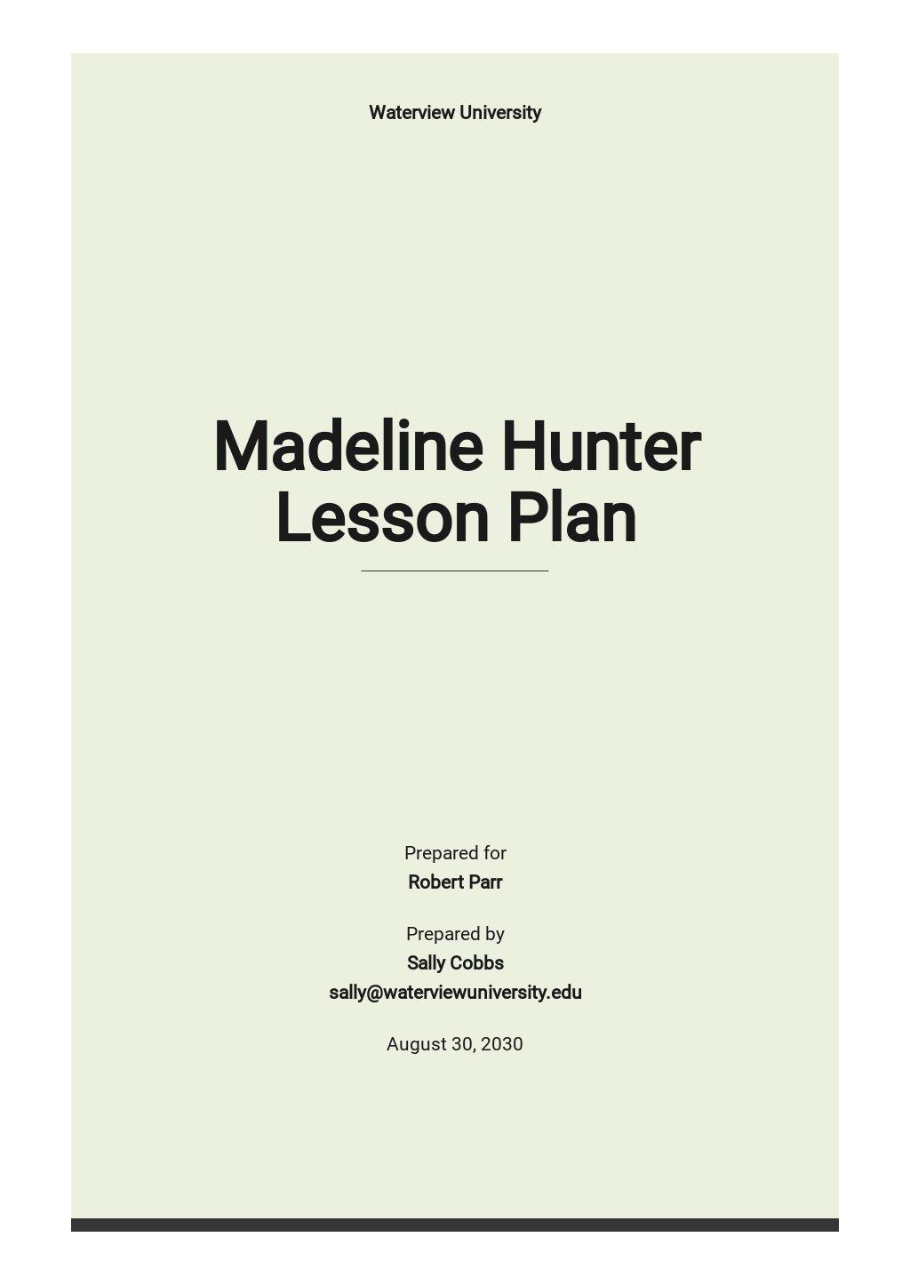 Madeline Hunter Lesson Plan Template.jpe