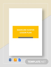 Madeline Hunter Lesson Plan Template