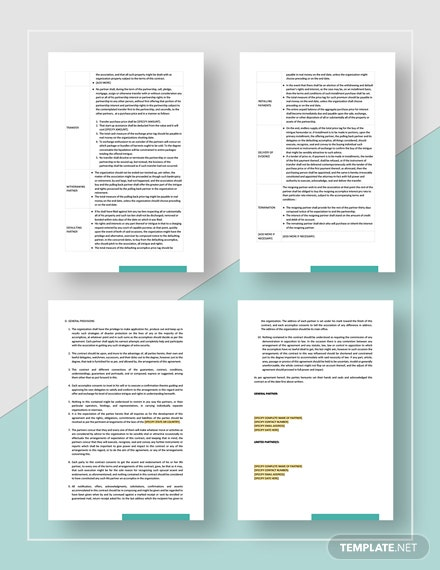 Business partnership contract Download