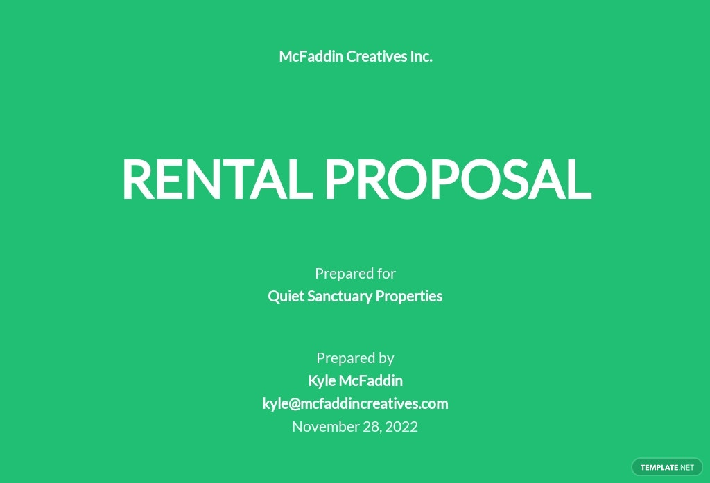 Rental Proposal Template