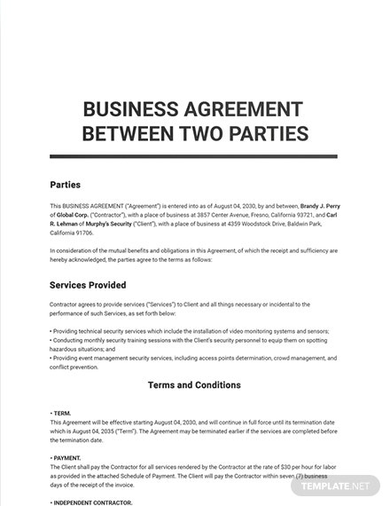 Agreement Letter Between Two Parties Doc from images.template.net