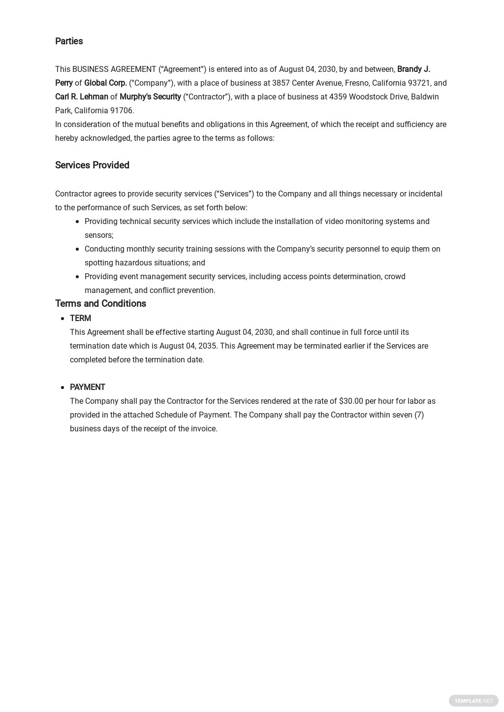 Business Agreement between Two Parties Template 1.jpe
