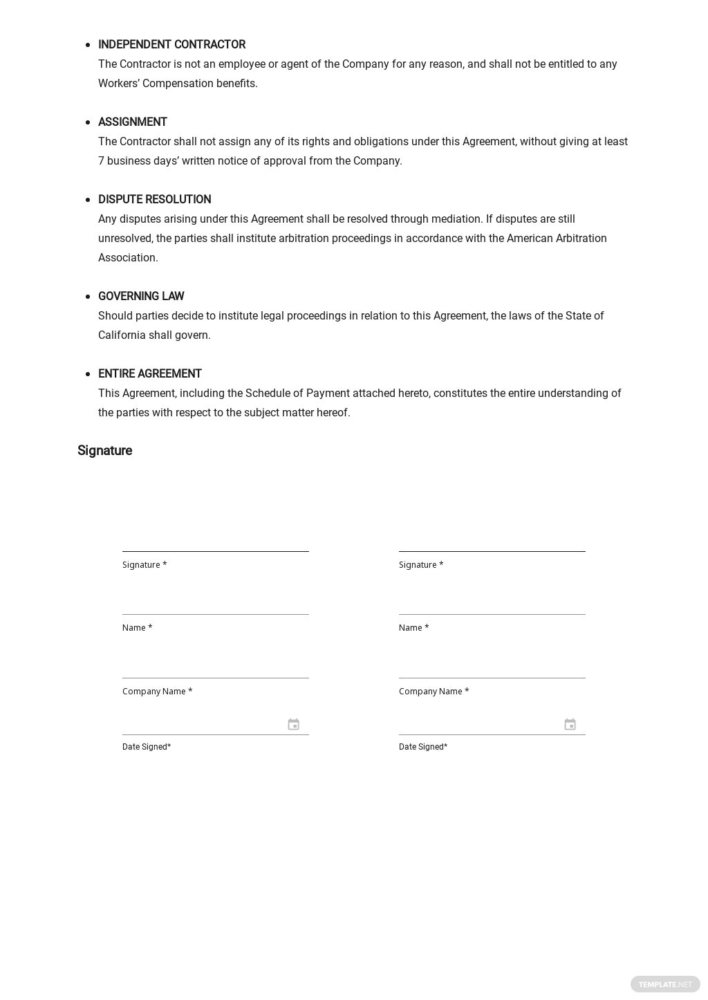 Business Agreement between Two Parties Template 2.jpe
