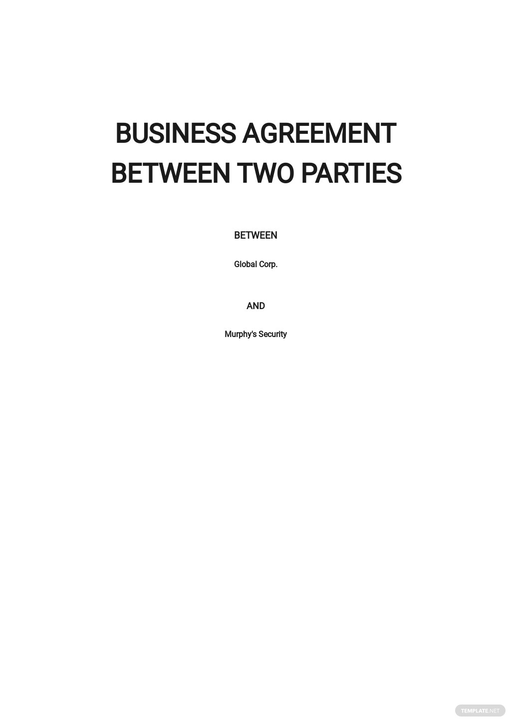Business Agreement between Two Parties Template.jpe