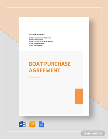 Boat Purchase Agreement Template