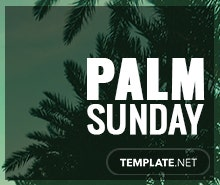 Free Palm Sunday Pinterest Board Cover Template