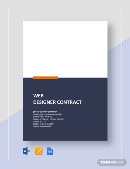 Web Designer Contract Template