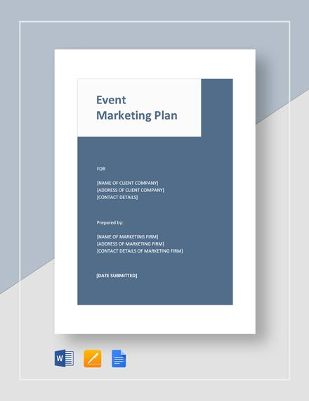 Event Marketing Plan Template
