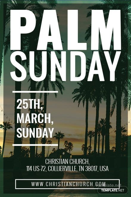 Free Palm Sunday Tumblr Post Template