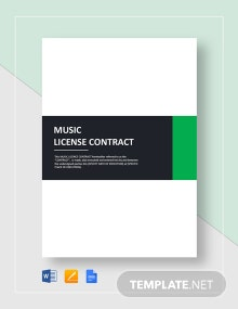 Music License Contract Template