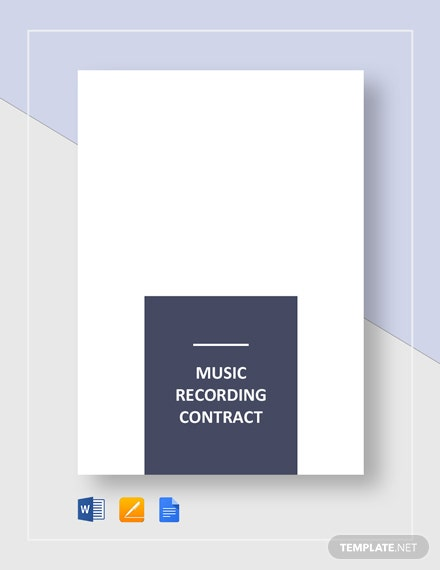 Music Recording Contract Template