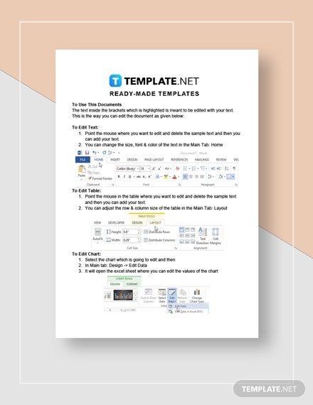 Temporary employment contract Instructions