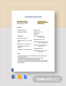 Catering Quotation Template