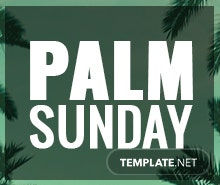 Free Palm Sunday YouTube Channel Cover Template