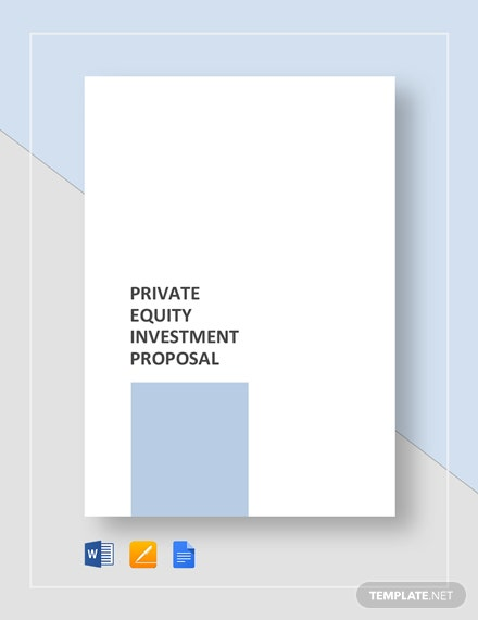 Private Equity Investment Proposal Template