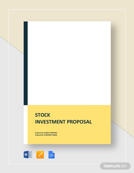 Stock Investment Proposal Template