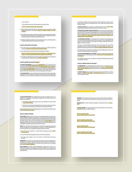 Rental contract amendment Download