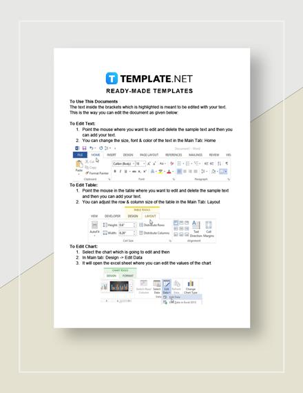 Rental contract amendment Instructions