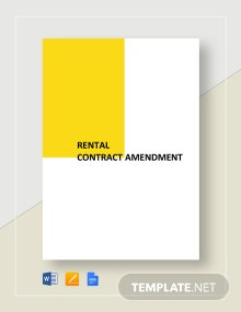 Rental Contract Amendment  Template