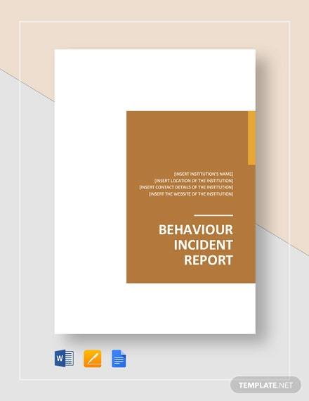 behavior incident report
