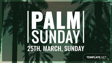 Free Palm Sunday YouTube Video Thumbnail Template