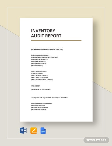 Inventory Audit Report Template