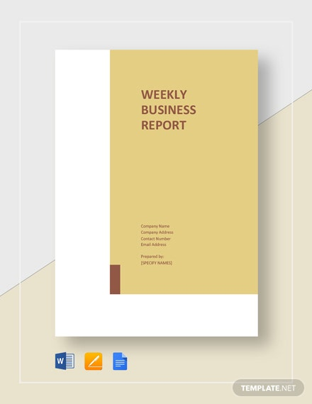weekly business report