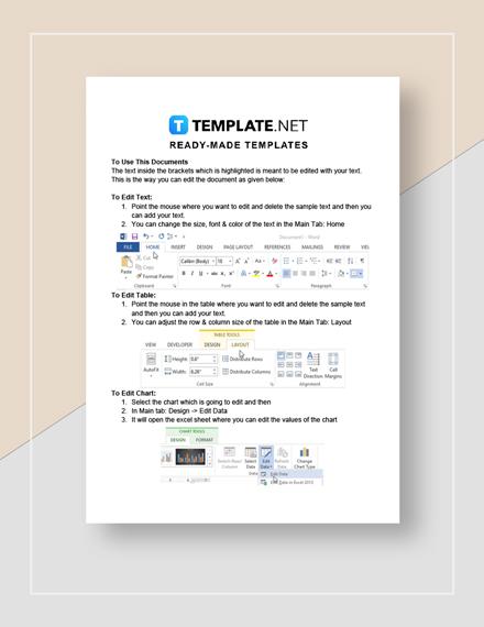 Training Evaluation Report Instructions