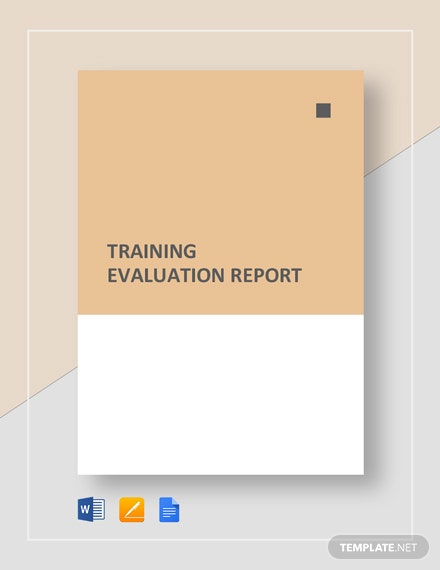 Training Evaluation Report Template