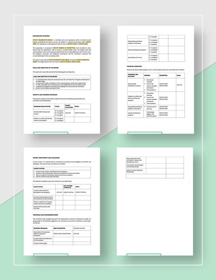 Budget Report Download