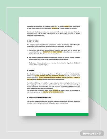Sample Marketing Contract Download