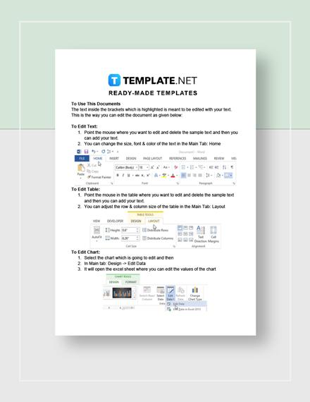 Credit Report Instructions