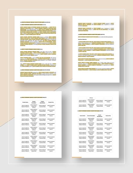 Sample Student Internship Report