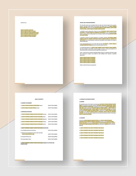 Student Internship Report Download