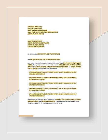 Student Internship Report Template