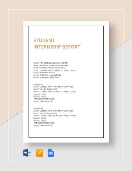 student internship report