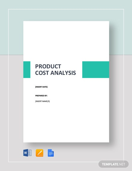 Simple Product Cost Analysis