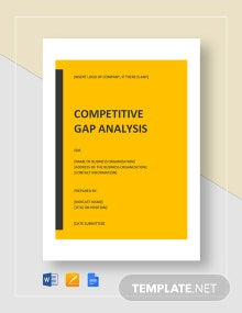 Competitive Gap Analysis Template