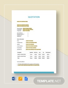 Basic Quotation Template