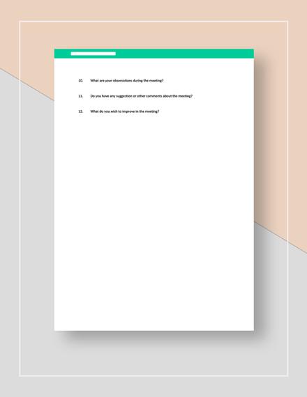 Meeting Survey Download