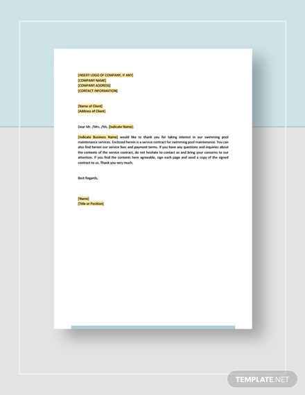 Swimming Pool Maintenance Contract Template - Word (DOC ...