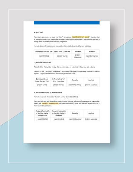 Financial Ratio Analysis Download