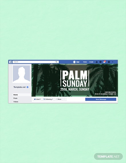Free Palm Sunday Facebook Event Cover Template