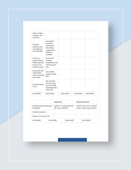 Training Gap Analysis Download