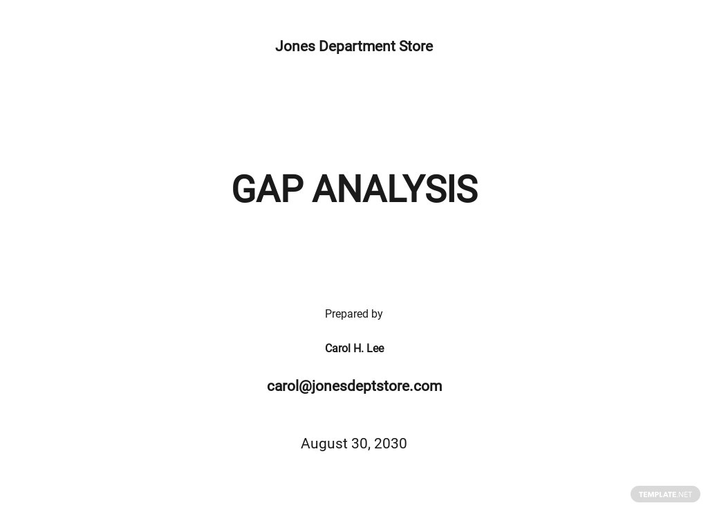 Training Gap Analysis Template