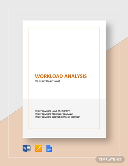 Work Load Analysis Template