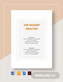 Job Hazard Analysis Template