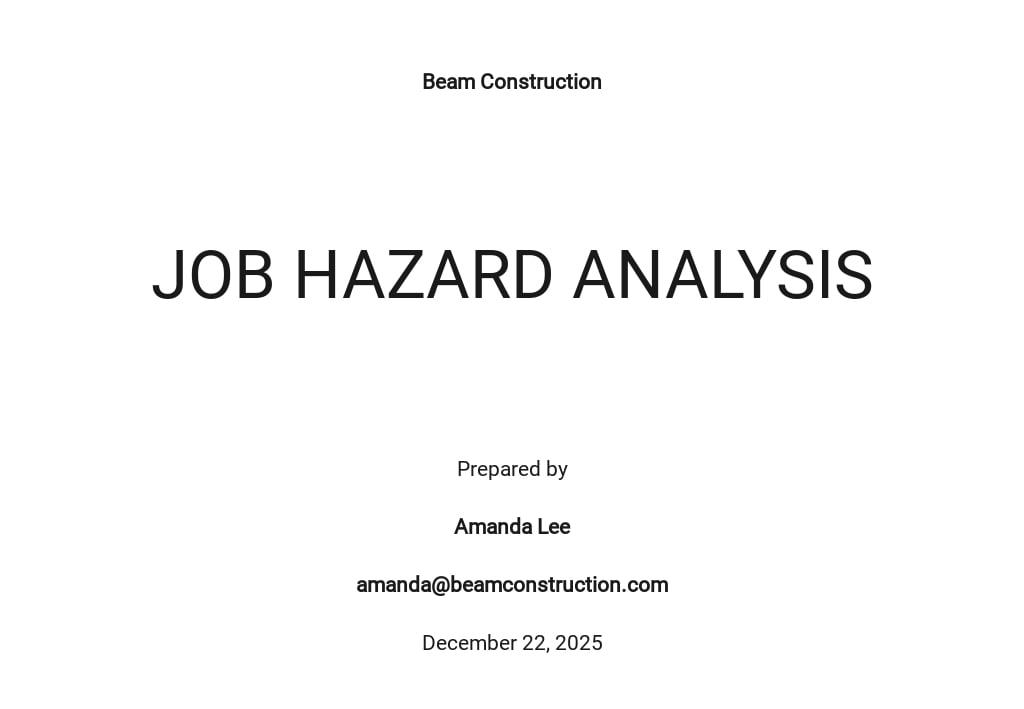 Job Hazard Analysis Template